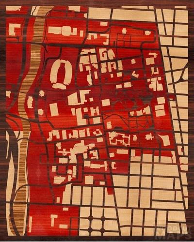 Wood-inlay maps. I love this. | (P)inlay | Pinterest