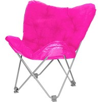 Pink fuzzy lounge chair | Think Pink | Pinterest