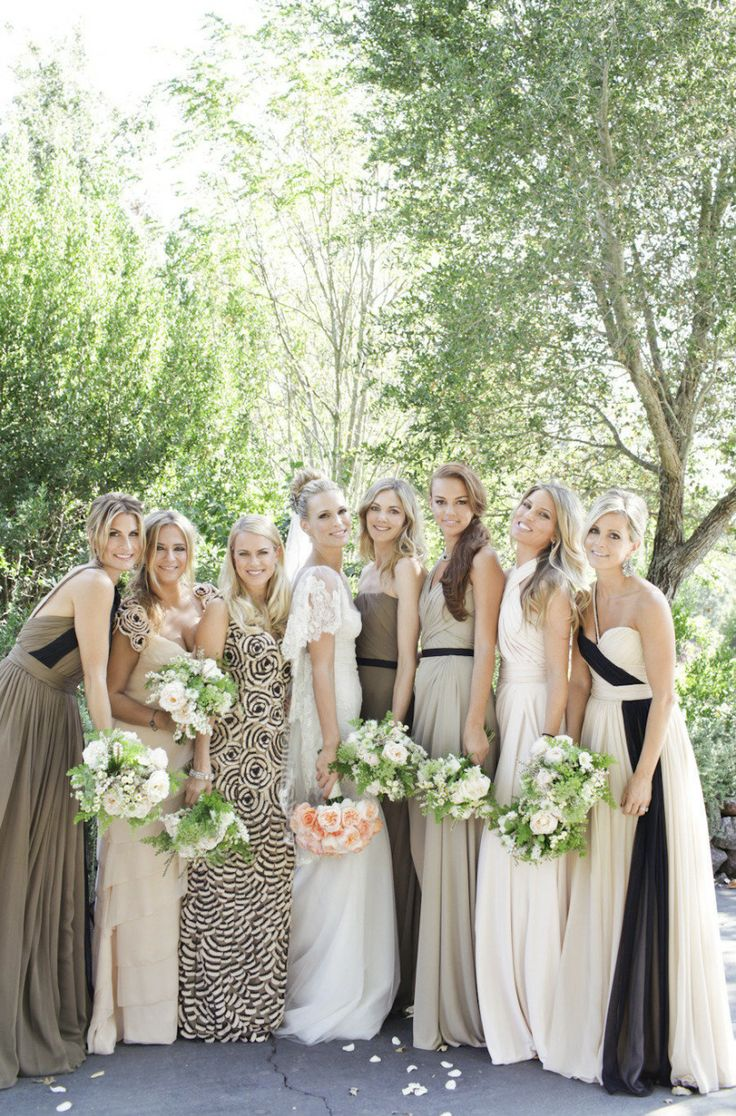 Mismatched Bridesmaid5 Sweet and Romantic Mismatched Bridesmaid Dresses photo