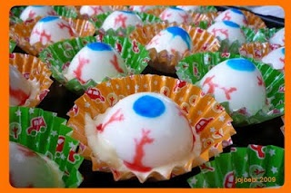 Boiled Egg Eyeballs - Halloween Breakfast?
