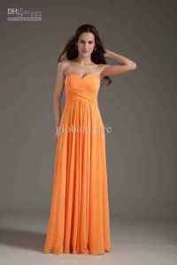 Bridesmaid dress- light orange | Wedding Ideas | Pinterest