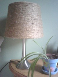 My jute lamp shade | DIY | Pinterest