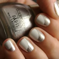 silver nail design | Nails | Pinterest
