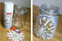 Frosted glass mason jars | Everything crafty and DIY ...