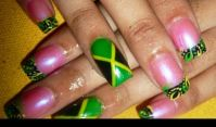Jamaican nail designs | Nails | Pinterest