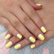 white moon light yellow nails