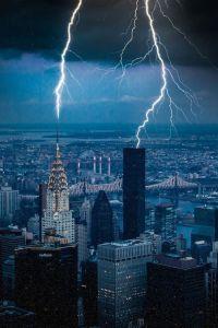 Lightning over New York City | Nature's Beauty | Pinterest