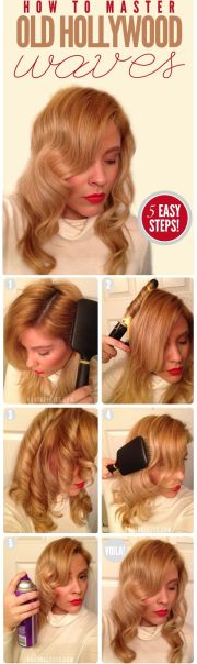 hollywood waves hairstyle