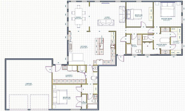 Garage conversion floor plan  I WANT THIS IN MY HOUSE