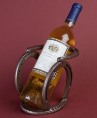 Western horseshoe wine bottle holder - southwestern ...
