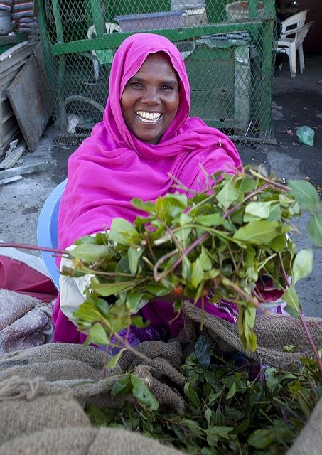 Boroma qat seller - Somaliland by Eric Lafforgue, via Flickr