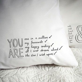 'You Are All I Ever Dream About' Pillowcase