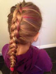english braid colorful hair