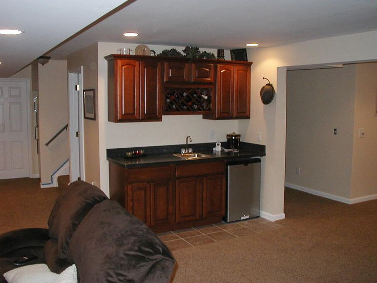 Wet bar with sink.