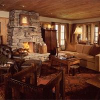 Rustic family room addition ideas | spaces | Pinterest