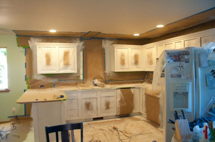 Spray painting kitchen cabinets  Favorite Places  Spaces