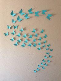 3D Butterfly Wall Art. 48, 96 or 144 Butterflies