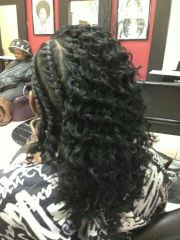 twist relaxed hair transitioning