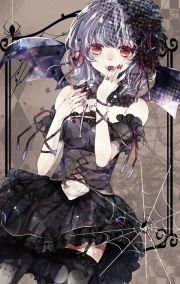 anime dark girl characters