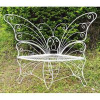 Metal Butterfly Garden Bench - D33815