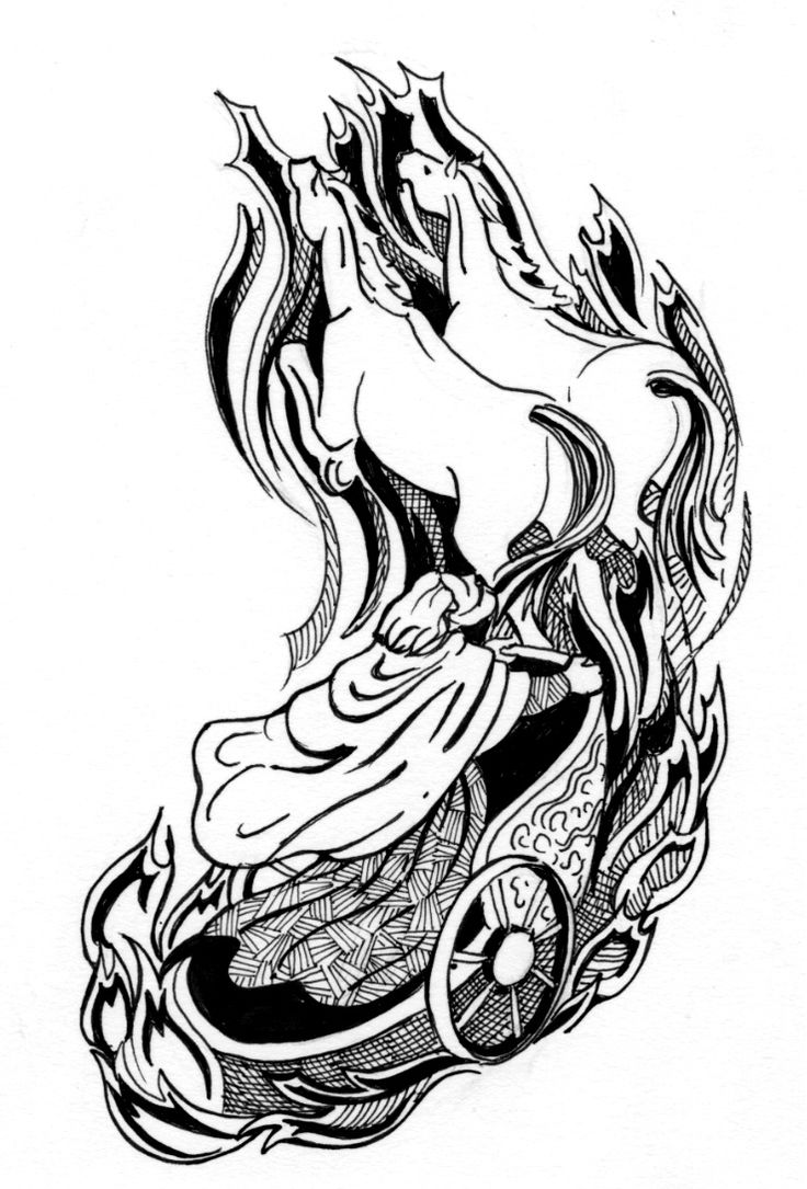 Chariot Coloring Pages Sketch Coloring Page