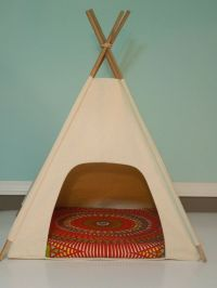Dog Teepee / Cat Teepee Modern Pet Bed - Natural Canvas ...