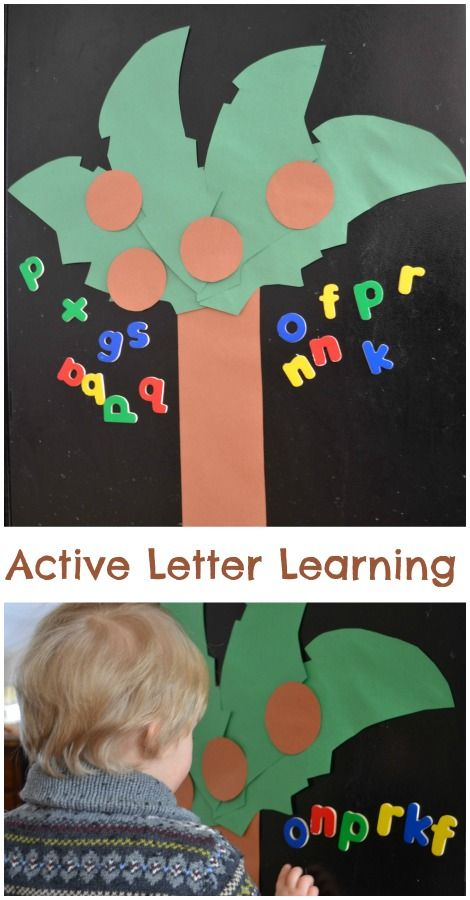 ABC Game great for early letter learners! Use the book Chicka Chicka Boom Boom!