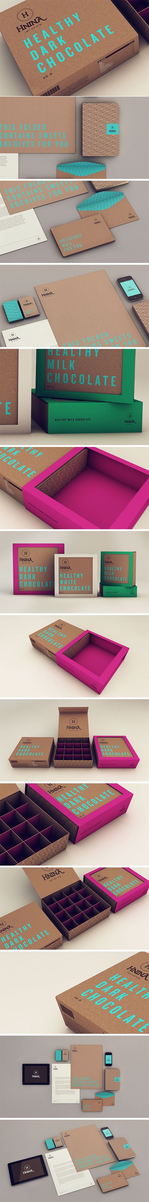 Chocolate branding - beautiful.