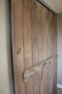 Reclaimed wood barn door   Laundry   Pinterest