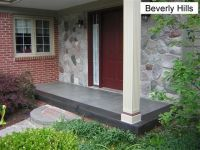 stained concrete front porch | Landscaping | Pinterest