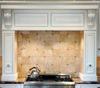 Jerusalem gold limestone tile backsplash | Details: Tile ...
