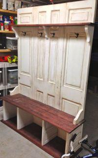 DIY Wood Design: Popular Hall tree bench plans