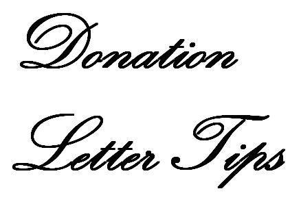 Help writing donation letters