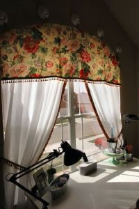 diy arched window treatment   projects & crafts   Pinterest