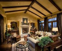 cool rustic interior | Living Rooms | Pinterest