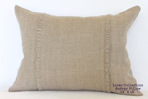The Linen Collection Audrey Pillow 12 by 16 by cottagebydesign, $40.00