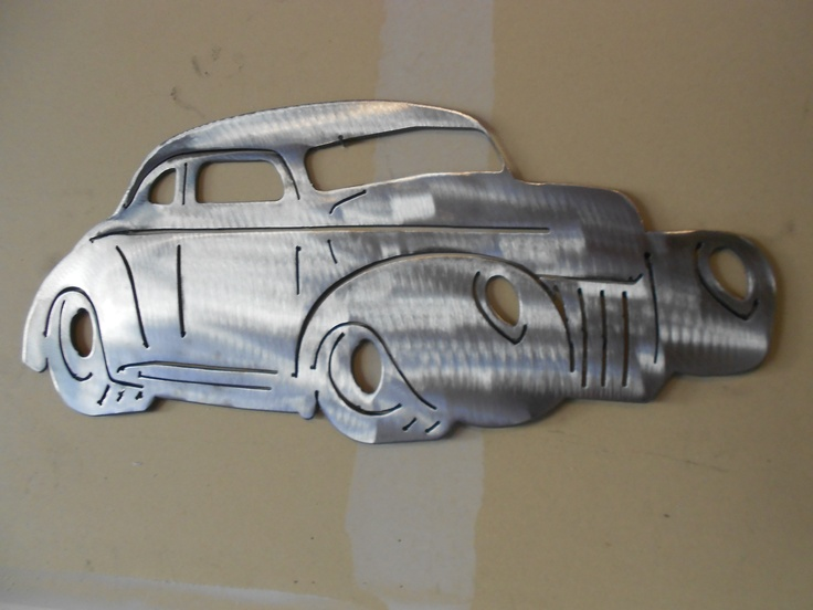 1939 ford coupe metal wall art
