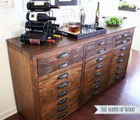 DIY Restoration Hardware Bar Cabinet | DIY Build it ...