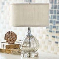 Mercury Glass Clove Table Lamp | beach house | Pinterest