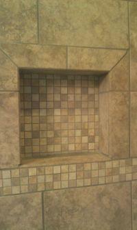 tile shower shampoo niche | New Home Ideas | Pinterest