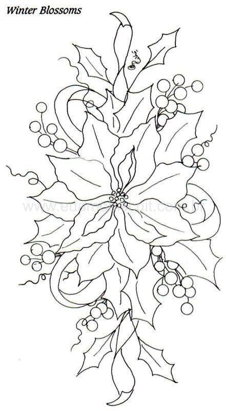 pretty poinsettias  patterns  pinterest
