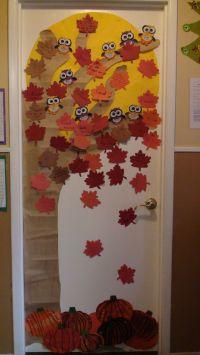 Fall Door Decor | Library BB/Display Ideas | Pinterest