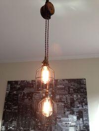 Steampunk Barn Wood Pulley Pendant Light - Antique Brass ...