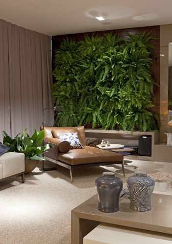 vertical garden in the living room