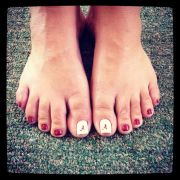 pedicure design football joy