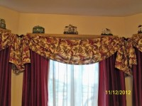 My no sew window valance | Curtains | Pinterest