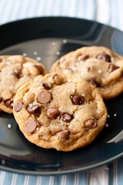 Browned Butter Salted Chocolate Chip Cookies - without a doubt one of the best chocolate chip cookies I've ever eaten!!