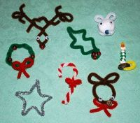 pipe cleaner crafts | Christmas | Pinterest