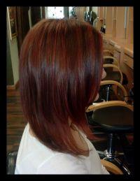Auburn hair with red highlights | Beauty | Pinterest