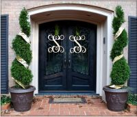 Double Door Monograms | wreaths | Pinterest